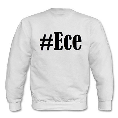 Reifen-Markt Sweatshirt #Ece Größe 2XL Farbe Weiss Druck Schwarz