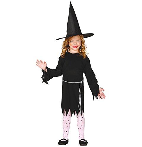 Guirca 78581 heksenkostuum, klassiek, zwart, 5-6 jaar