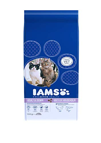 Iams Cat Food ProActive Health Multi-Cat with Norwegian Salmon and Chicken, 15 kg 4