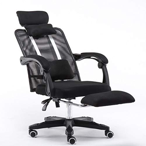 PLEASUR Computer chair Home reclining chair Electric chair Lazy chair Office chair Lifting swivel chair Seats (Color : Black, Size : 65cm*65cm*120cm)