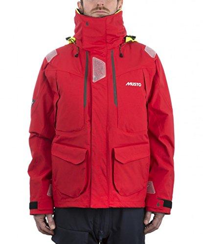 Musto Herren BR2 Yacht Segeln und Bootfahren Offshore Coat Jacket True Red - Atmungsaktiv Wasserdicht Sprayproof