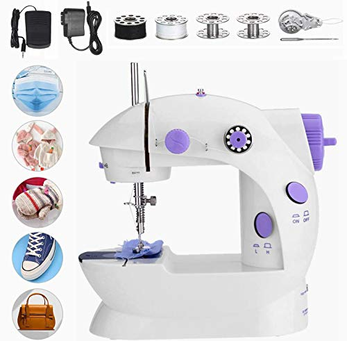 %10 OFF! htovila Mini Sewing Machine, Portable Handheld Sewing Machines Double Thread Portable Elect...