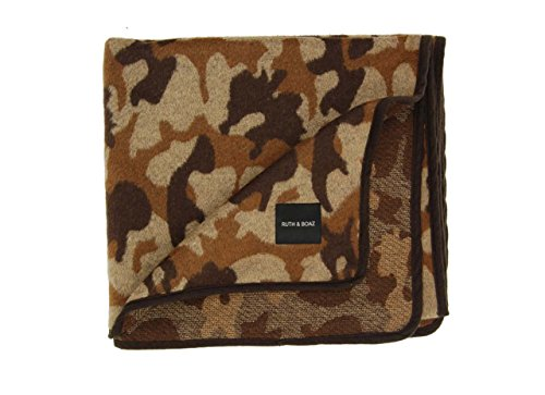Ruth&Boaz Outdoor Wool Blend Blanket Camo Pattern (Brown, Normal)