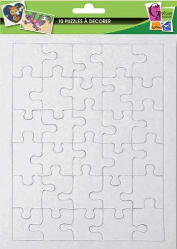 10 puzzles of 30 parts to decorate - 20 x 13 cm - Seeds crea