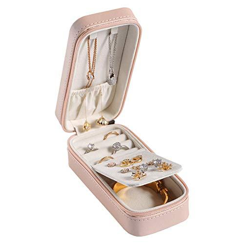 YHDNCG Portable Travel Jewelry Storage Box Earrings Ring Necklace Storage Jewelry Box Ladies Jewelry Box