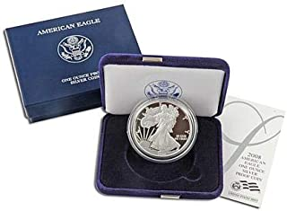 2008 W American Silver Eagle With Velvet Box & COA .999 Fine Silver $1 Proof US Mint