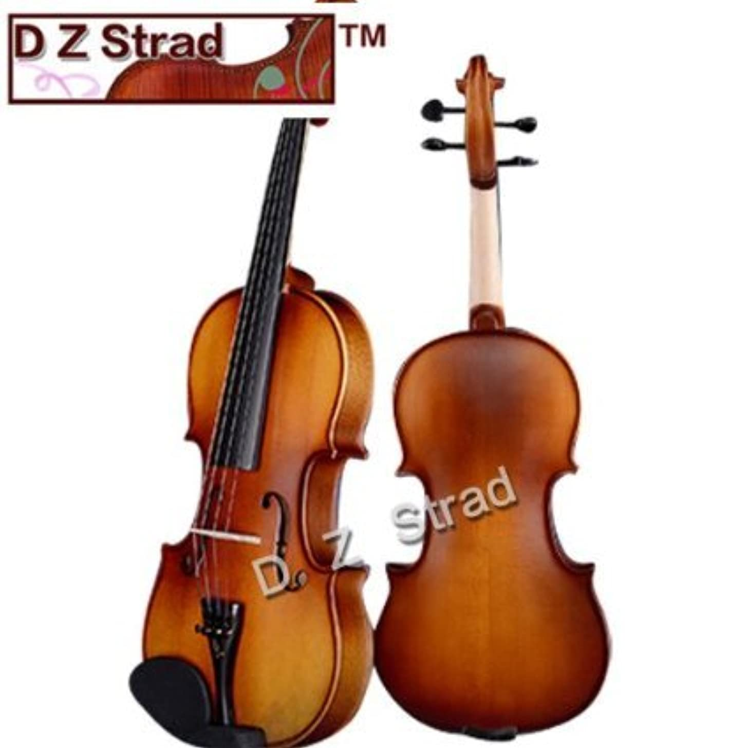 D Z Strad Violin Model 100 with Solid Wood Size 1/4 Violin with Case, Bow, and Rosin (1/4-Size)