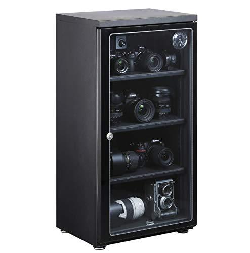 【Amazon限定ブランド】 HAKUBA 防湿庫 E-ドライボックス 大容量 128L カビ対策 自動除湿 静音 電子制御式 メーカー5年保証 KED-130