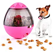 Tumbler Automatic Pet Feeder, Slow Feed Dog Bowl, Cat Food Dispenser, Puppy Food Bowl, Funny Dog Foraging Play Toy - Pink