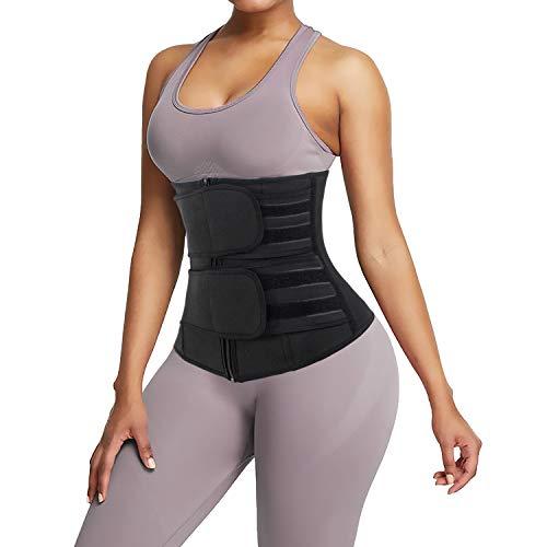 Junlan Waist Trainer for Women Weight Loss Body Shaper Corset Swaeat Neoprene Workout Waist Tranier for Women(Black, M)