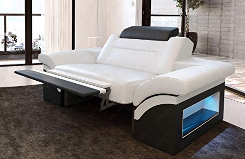 Sofa Dreams Cuero Sillón Monza Blanco-Negro
