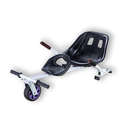 Accesorio De Asiento Doble para Hoverboard, Accesorio De Kart De Asiento Extraíble, Compatible con Hoverboards De 6.5   8    10 ,Blanco