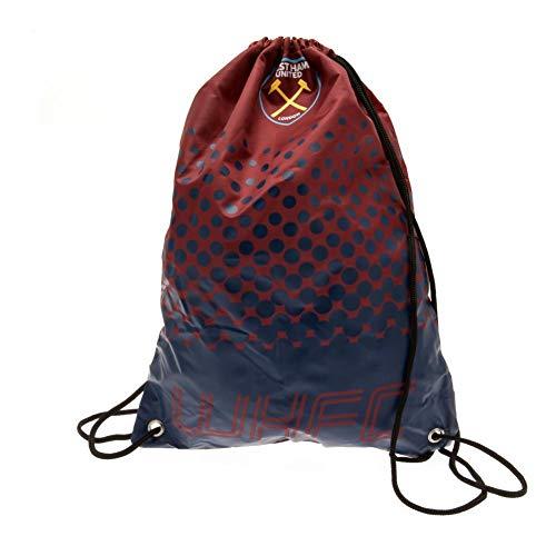 West Ham United FC Fade Design Turnbeutel (44 x 33cm) (Rot/Marineblau)