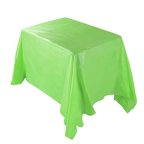 TOWAKM Wasserdichte Plastiktischdecken Tischdecke Abdeckung Partei Catering Events Geschirr (Green)