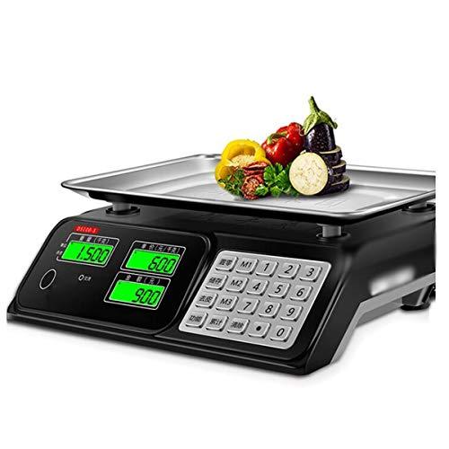 LLRDIAN Básculas electrónicas de Alta precisión ▎ básculas comerciales de 30 kg Que pesan Scales básculas electrónicas Scales básculas de Frutas del Mercado de Venta de hogares