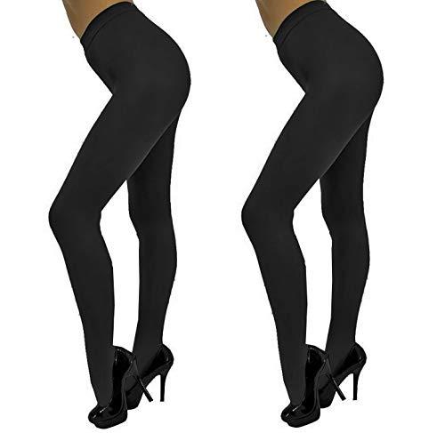Dames panty kleur zwart 280 De overtrek zacht en elegant Eenheidsmaat S/M - Set van 2