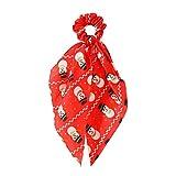 SUKOKOLA Christmas Snowman Pattern Red Hair Tie,Bowknot Hair Scrunchie Scarf Ponytail Holder For...