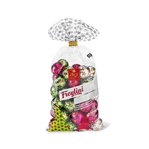 Frey Freylini Kugeln Mix 480g - Assortierte gefüllte Schokoladenkugeln - Schweizer Schokolade - UTZ-zertifiziert - Praline in weihnachtlicher Verpackung