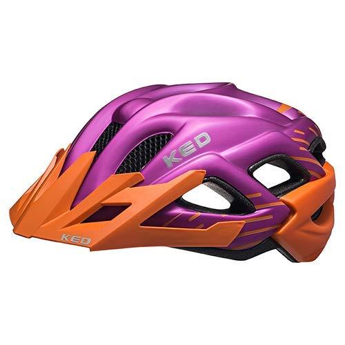 K-E-D Fahrradhelm Status Junior Orange Violet Matt in der Größe S (Kopfumfang 49-54 cm) - Allround-Helm in robuster maxSHELL- Technologie, Quicksafe- und Quickstopp-System - extrem Gute Belüftung