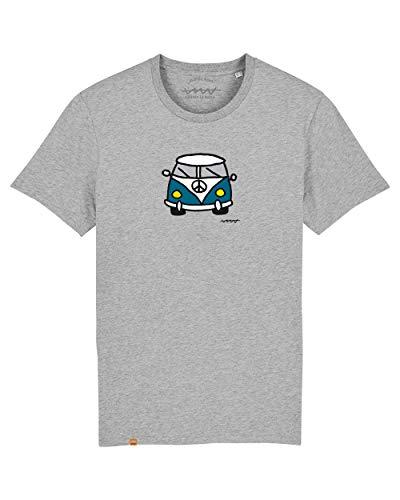 Cencibel Smart Casual Camiseta Callate La Boca Gris Furgoneta Azul (M)