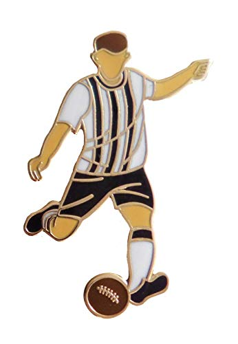 1000 Flags Dunfermline Athletic Football Player Pin Badge - In Retro Kit With Real Gold Plate