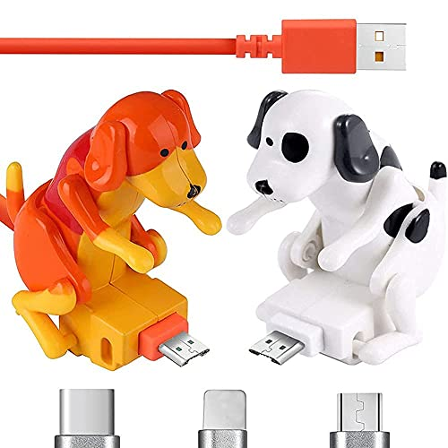 Cable De Carga Para Perros Callejeros, Cable Cargador RáPido Para Perros Divertidos Humping, Cable De Carga Para Perros Callejeros PortáTil (naranja, para Iphone)