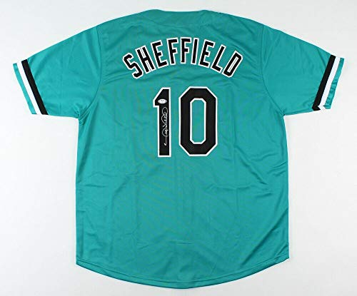 Gary Sheffield Autographed Signed Florida Marlins Jersey (PSA COA) 1997 World Series Champ