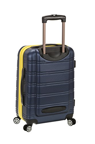 Rockland Melbourne Hardside Expandable Spinner Wheel Luggage, Navy, Carry-On 20-Inch