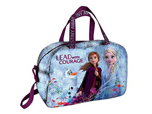 Frozen II; Kindertasche für Sport und Gepäck; 2 Trageoptionen - Verstellbarer Schultergurt und 2 Tragegriffe; Maße: L40 x H26 x W21cm