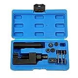 FreeTec Kit di riparazione per motociclo smontacatena e rivettatrice