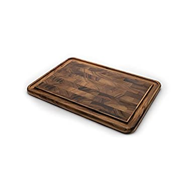 Ironwood Gourmet 28662 Dual Sided Frame Cutting Board With Juice Channel, Acacia Wood