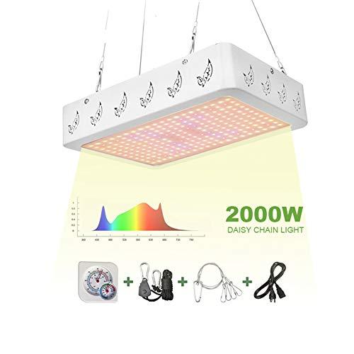 POOPFIY Luces LED para Cultivo Interior 1000W Grow Led Light Daisy Chain Phyto Lamp para Plantas Grow Carpa Flores
