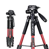 BONFOTO Tripod Q111 55' Flexible Travel Camera Tripod with 3-Way Pan...