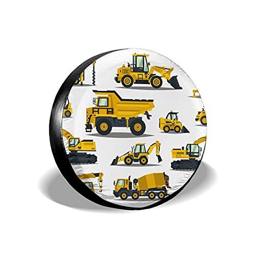 QUEMIN Carretillas Elevadoras, grúas, excavadoras, Tractores, topadoras, Camiones Cubiertas de Rueda de Cubierta de Tipo de neumático de Repuesto Universal de 15 Pulgadas