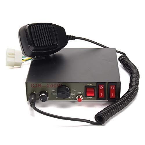 Wooya 200W 9-Sound Tones Car Truck Warning Alarm Police Siren Horn Speaker Mic System