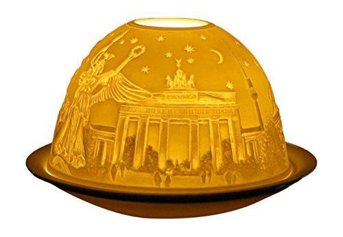 Himmlische Düfte Geschenkartikel GmbH Berlin Windlicht, Porzellan, Weiss, 12x12x8 cm