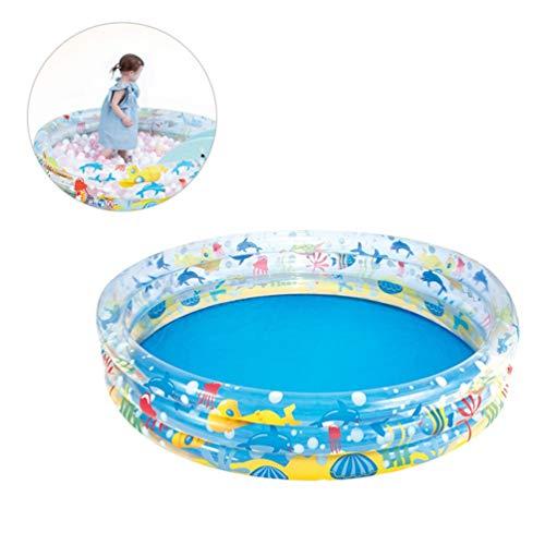 PRETYZOOM - Piscina hinchable estilo océano para niños, plegable, para el hogar (15,2 x 30 cm)