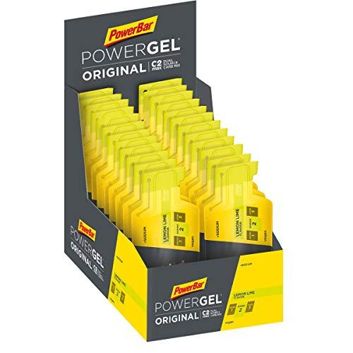 PowerBar PowerGel Original Lemon Lime 24x41g - High Carb Energie Gel + C2MAX Magnesium und Natrium