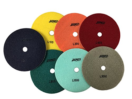Purchase Zered PP7-L 4 in.Diamond Polishing Pads-Series L (Full Set (7 Pcs))