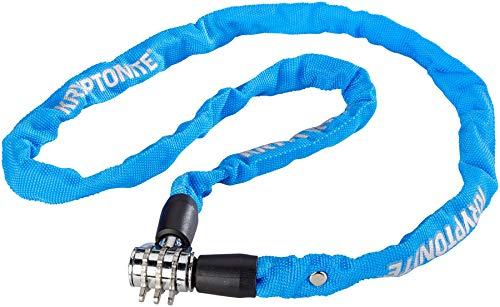 Kryptonite Keeper 411 Combo Chain-4X100Cm-Blue, Locks Unisex