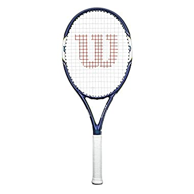 Wilson HYPERion PowerX 1 Tennis Racquet, Blue/White, 4 1/4