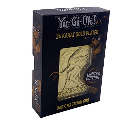 Fanattik - Yu-Gi-Oh Metal Gold Card Replica-Dark Magician Girl, 182497