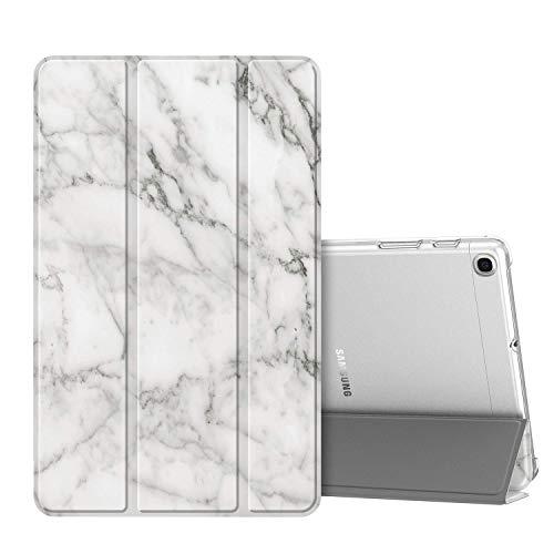 Fintie Hülle für Samsung Galaxy Tab A 10,1 SM-T510/T515 2019 - Superdünn Schutzhülle mit durchsichtiger Rückseite Abdeckung Cover für Samsung Galaxy Tab A 10.1 Zoll 2019 Tablet, Marmor Weiß