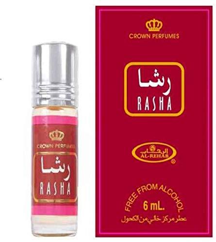 Business Square Paquete de 6 Almizcle Perfume Al Rehab Rasha 6 ml 100% aceite