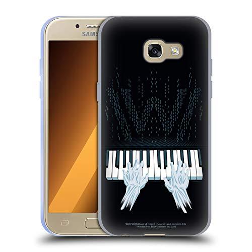 Head Case Designs Offizielle Westworld Piano Grafiken Soft Gel Handyhülle Hülle Huelle kompatibel mit Samsung Galaxy A3 (2017)