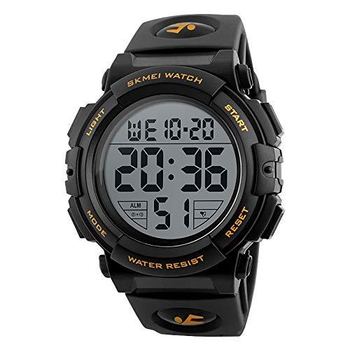 Hombre Reloj Deportivo Reloj Esqueleto Reloj Militar Cuarzo Encanto Digital Resistente al Agua/Impermeable Digital Negro Rojo Azul/Silicona/Dos años/Alarma/Calendario/Fecha/Día/LCD