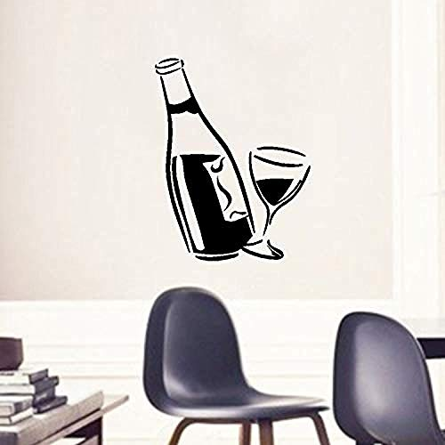 Adhesivos De Pared Bedom wallpaper Dormitorio Chica Pegatina De Pared Bar Familia Vino Pared Art Deco Bebida Calcomanías De Vinilo Con Pegatina De Copa De Vino