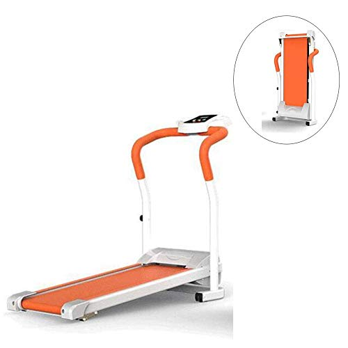 Wghz Treadmill Household Foldable Silent Mini Electric Treadmill with Protection Lock and Handrail Suitable for Indoor Fitness