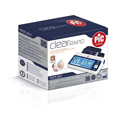 Pic Solution ClearRAPID Monitor de Presión Arterial Automático Tipo Brazo, unisex