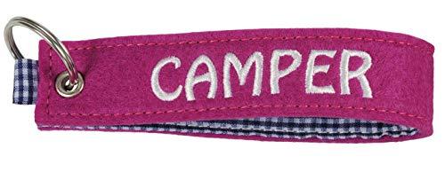 happyROSS Filz-Schlüsselanhänger Camper (Pink)